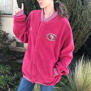 NFL Jackets & Coats - Adidas Vintage Forty Niners 49er's Fleece Jacket
